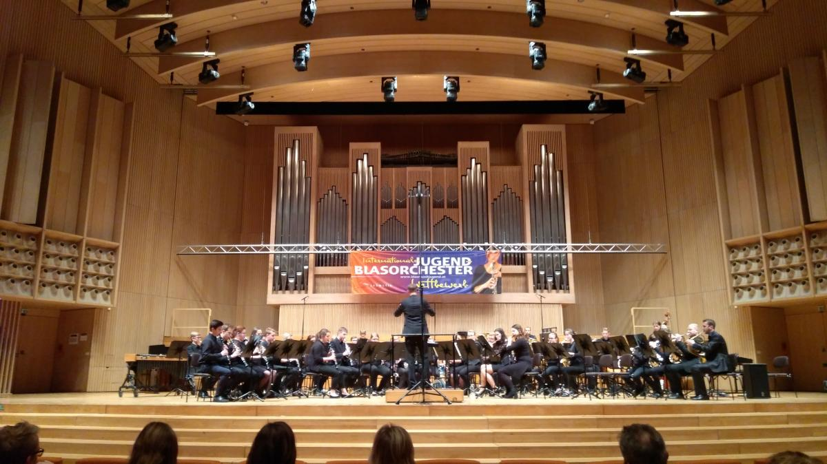 Aufnahme Blasmusikwettbewerb Brucknerhaus